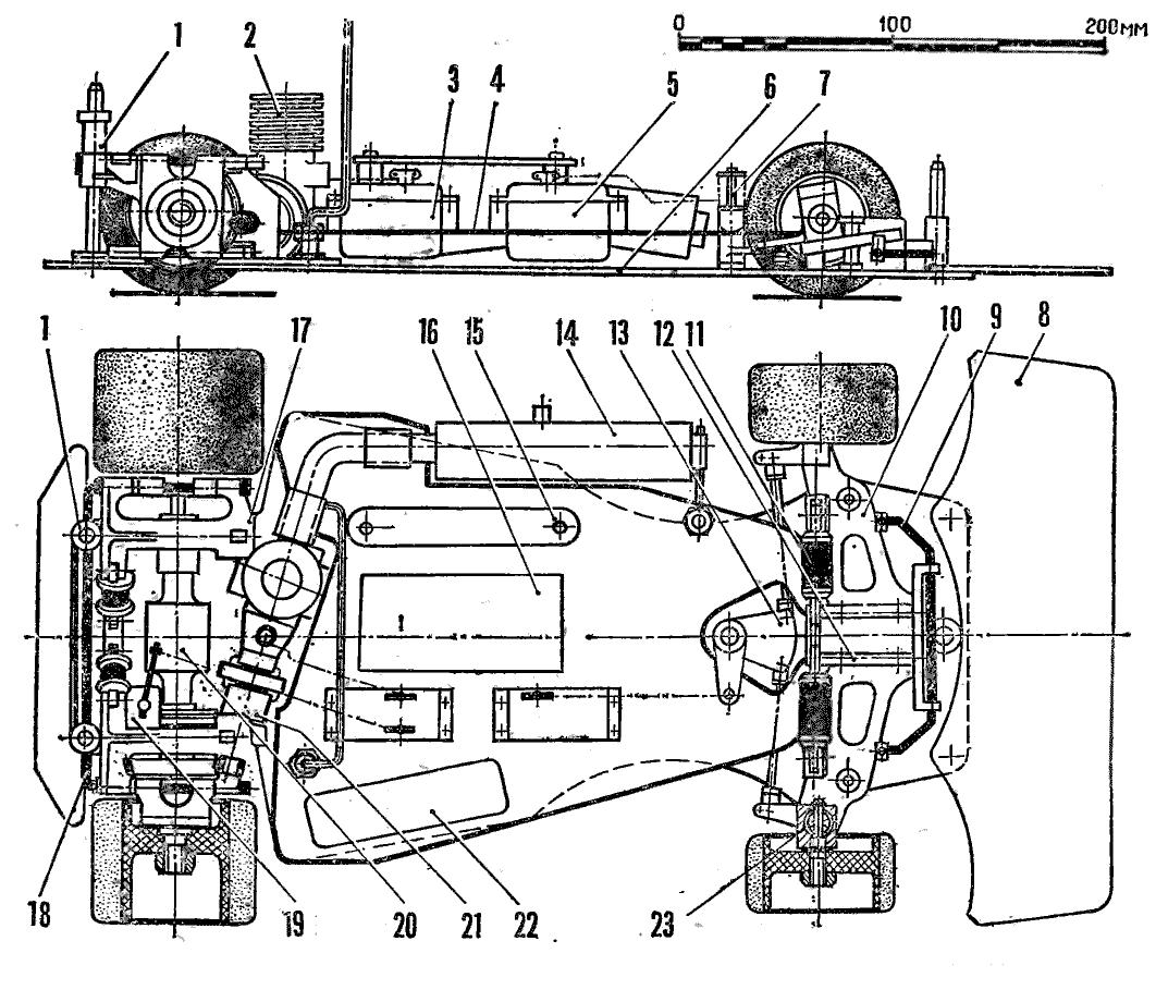 схема радио-модели автомобиля